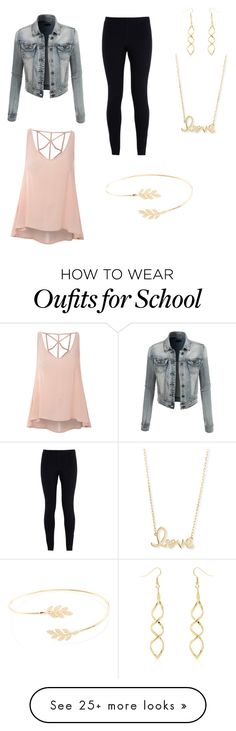 """First day of school"" by madihair on Polyvore featuring Glamorous, LE3NO, NIKE, Sydney Evan and Accessorize"