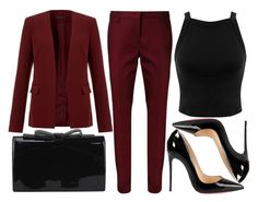 A fashion look from November 2015 featuring crop tops, burgundy jacket and Dorothee Schumacher. Browse and shop related looks. Work Fashion, Fashion Looks, Fashion Outfits, Fashion Women, Women's Fashion, Cute Casual Outfits, Stylish Outfits, Professional Outfits, Business Outfits