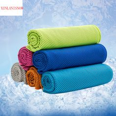 3PCS/Lot Creative Summer Ice Cooling Towel Cool Gym Sports Towels for Basketball Absorbent Microfiber Fabric dropshipping #Affiliate
