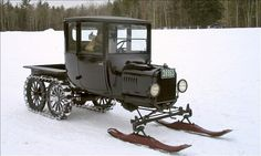 """Model T Snowmobile (The real way to use the word """"snowmobile"""")"""