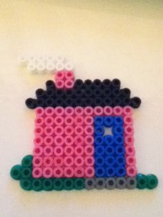 pink small hama house