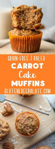 Grain-free Carrot Cake Muffins that are also gluten-free, dairy-free, and refined-sugar free making them Paleo friendly! via Grain-free Carrot Cake Muffins that are also gluten-free, dairy-free, and refined-sugar free making them Paleo friendly! Paleo Dessert, Dessert Sans Gluten, Paleo Sweets, Gluten Free Desserts, Dairy Free Recipes Sweet, Sugar Free Recipes Stevia, Gluten Free Dairy Free Desserts, Gluten Free Baking Recipes, Paleo Muffin Recipes