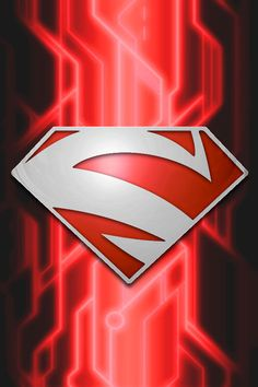 Superman Red Circuit background by KalEl7.deviantart.com on @deviantART