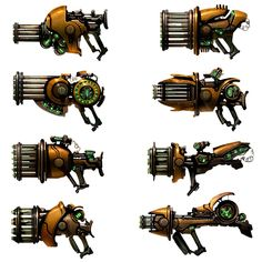 Weapon Designs from Ratchet & Clank Future: A Crack in Time