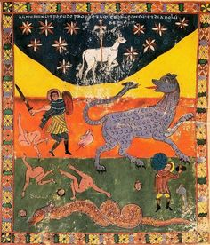 The victory of the Lamb over the kings, San Miguel Beatus Codex, Beatus of Liébana, Spain
