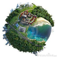 Miniature globe landscape diversity