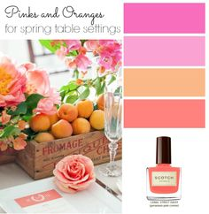 Color Inspiration - Pinks and Oranges for Spring Table Settings