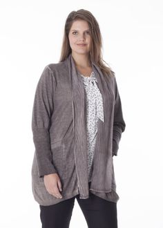 Knitted cardigan with shawl collar