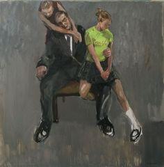 Michał Zaborowski, Lot and his daughters, oil on canvas, 150x150cm.