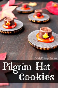 Perfect Treat of Fall and Thanksgiving - Fun for the Whole Family to Make - Pilgrim Hat Cookies Recipe
