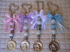 Medallón de cuna - ángel de la guarda