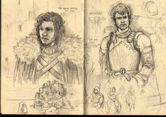 Game+of+Thrones+sketches+part+2+by+f1x-2.deviantart.com+on+@DeviantArt Jon Snow Game of Thrones