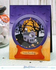 Happy Haunting Snow Globe Card by Betsy Veldman for Papertrey Ink (August 2015)