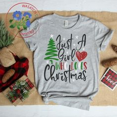 Just a girl who loves Christmas SVG cutting file,Christmas S.- Just a girl who loves Christmas SVG cutting file,Christmas SVG, Christmas tshirt designs, Christmas - T Shirt Designs, Vinyl Designs, Christmas Design, Family Christmas, Christmas Crafts, Christmas Ideas, Christmas Time, Christmas Inspiration, All Things Christmas