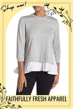 Click the link above to browse through our fresh and bold apparel and accessories for women of all shapes and sizes perfect for casual, professional, and dressy looks. #fashion #womenoutfit #style #outfitidea Tunic Sweater, Long Sleeve Sweater, Classic Outfits For Women, Casual Professional, Off Shoulder Jumpsuit, 2020 Fashion Trends, Asymmetrical Tops, Sweater Design, Knit Fashion