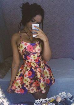 pinterest | flowered dress
