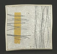 """GILL GALLOWAY-WHITEHEAD-UK"""" I have developed a method of working with fine wire, which allows me to express myself in much the same way as I would when painting. Differing densities of wire can be manipulated to create surface changes in tone and texture. Using the whiteness of fine silver in combination with the rich yellow of fine gold as well as the black through to grey of oxidation gives a satisfying colour palette. """" http://www.gillgallowaywhitehead.com/"""