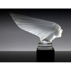 Bohemian Art Deco Glass Victoire Car Mascot Hood Ornament H.Hoffmann