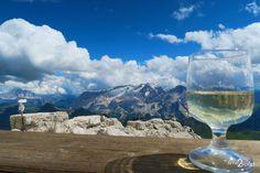 Dolomiti, Via Ferrata Cesare Piazzetta, Piz Boe m), Sella Group White Wine, Alcoholic Drinks, Glass, Outdoor, Outdoors, Drinkware, Corning Glass, White Wines, Liquor Drinks