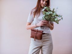 Brown Leather Belt Bag, Fanny Pack for Women, Fold over Bag, Roll over leather bag, Convertible Belt Bag, Minimalist Belt Bag Leather Belt Bag, Brown Leather Belt, Black And White Bags, Black And Brown, Hip Bag, Vegan Leather, Fanny Pack, Convertible, Minimalist