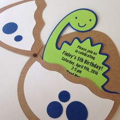 Dinosaur invitations, dinosaur egg invitations