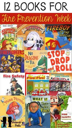 Use fire prevention week to open a dialogue with your students about what it means to be safe at school and at home. We've gathered a list of books and a few videos to help enhance your fire safety lesson plans. Preschool Books, Preschool Classroom, In Kindergarten, Preschool Activities, Classroom Ideas, Classroom Resources, Fire Safety Week, Fire Safety For Kids, Fire Prevention Week