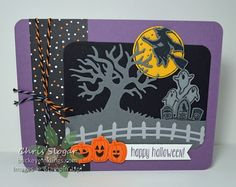 by Chris: Spooky Fun Bundle, Halloween Night dsp & Baker's Twine - all from Stampin' Up!