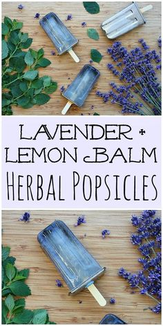 These lavender and lemon balm herbal popsicles are a delicious and refreshing way to get the benefit of herbs in the heat of the summer! #lavender #lemonbalm #herbal #popsicles