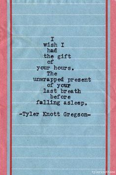 Typewriter Series #610byTyler Knott Gregson
