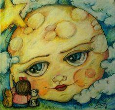 "Pop Art Minis: ""Super Moon Gazing"" by Joni Nickrent"