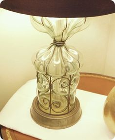 antique fair lamp DIY Lampshades: Ruffled, Recovered & Slipcovered - Centsational Girl            #crystal