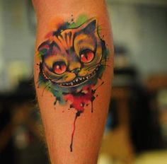 Cheshire Cat Tattoo by Anton YellowDog