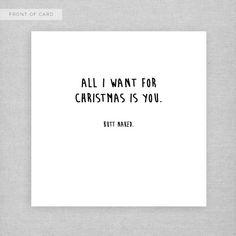 Alles wat ik wil voor Kerstmis is u (kont naakte). Brutale, ondeugende, onbeleefd, grappige kerstkaart