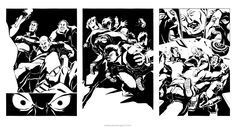 Ink narrative artwork by comic artist James Ng. Commissioned for a graphic novel trilogy inspired by the dangerous underworld of Hong Kong. Pencil Illustration, Underworld, Comic Artist, Illustrators, Novels, Ink, Comics, Drawings, Artwork