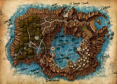 Myst map cartography | Create your own roleplaying game material w/ RPG Bard: www.rpgbard.com | Writing inspiration for Dungeons and Dragons DND D&D Pathfinder PFRPG Warhammer 40k Star Wars Shadowrun Call of Cthulhu Lord of the Rings LoTR + d20 fantasy science fiction scifi horror design | Not Trusty Sword art: click artwork for source