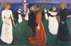 Edvard Munch, De levensdans (Dance of life), 1899-1900, olieverf op doek, 125 x 191 cm, Nationaal Galerie, Oslo - Biografie: http://www.artsalonholland.nl/grote-meesters-kunstgeschiedenis/edvard-munch-kunstschilder-noorwegen