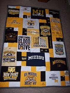 Great idea for all my MU t-shirts that I don't wear anymore
