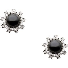 Cz By Kenneth Jay Lane Earrings (125 CAD) ❤ liked on Polyvore featuring jewelry, earrings, black, black earrings, zirconia jewelry, cz by kenneth jay lane, cz earrings and cubic zirconia earrings