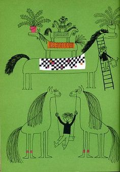 """""""Edward and the Horse"""" by Ann Rand and illustrated by Olle Eksell - AWESOME!!!"""