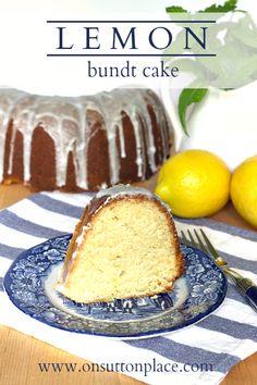 Fresh lemon juice and zest make this Lemon Bundt Cake flavorful and moist. Uses basic pantry ingredients too!