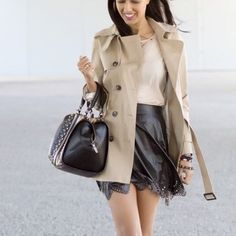 Cute trench coat Worn once! Perfect condition Jackets & Coats Trench Coats