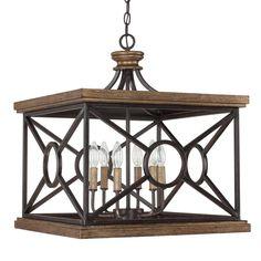 Capital Lighting Landon Collection 6-light Surry Rectangular Foyer Pendant