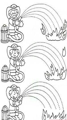 Fire Safety Worksheets Preschool Fire Safety Week Worksheet for Kids 1 Kindergarten Worksheets, Worksheets For Kids, Fire Safety Week, People Who Help Us, Community Helpers Preschool, Fire Prevention, Fine Motor, Preschool Activities, Family Activities