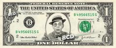 DON KNOTTS Mr Limpet - Real Dollar Bill Cash Money Collectible Memorabilia Celebrity Novelty by Vincent-the-Artist, $7.77 USD