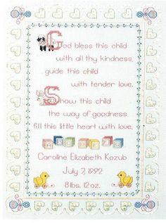 Nursery Prayer - Cross Stitch Kit