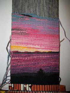 Puget Sound Sunrise tapestry by slowlysheturned, via Flickr