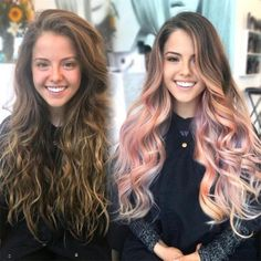Trendy Hair Color Picture DescriptionWant to try ombre hair, but not sure what look? We have put together a list of the hottest ombre looks for you to try! Why not go for a new exciting look? Pink Ombre Hair, Rose Gold Ombre, Rose Pink Hair, Hair Colours Ombre, Brown Pink Ombre, Hair Colors Rose Gold, Rose Hold Hair, Blue Brown, Trendy Hair Colors