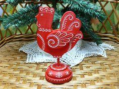 Купить Новогодний петушок - ярко-красный, петух, петушок, подарок на новый год, символ года
