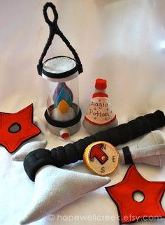 Kids Felt Magical Ninja Warrior Set by HopewellCreek on Etsy, $45.00