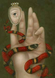 "Fatima Ronquillo, ""Hand with Snake and Weeping Eye"""